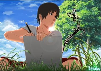 Sai likes to Draw!!!