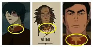 I would say grandson, due to his age. A lot of people are speculating that he's the son of Zuko's daughter (the current Fire Lord), and Bumi (Aang and Katara's second born.) 