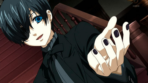 If I was Ciel and had my personality, then probably not. I would like to go to heaven. But if I was Ciel and had his peronality, then yeah I would. I'm assuming that you're talking about the Ciel/Lady Ciel ou whatever? I don't really know. Have a Kuroshitsuji picture.