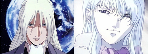 Zechs and Griffith from Gundam Wing and Berserk.