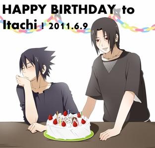 happy Birthday !!! I got tu a pic of Sasuke and Itachi