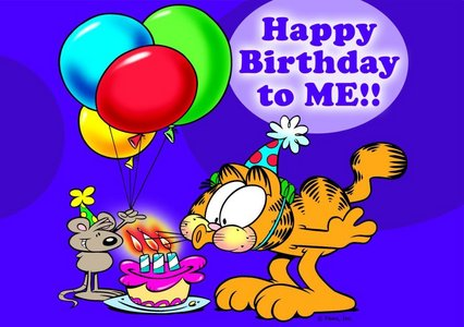 LOL actually today's my birthday & i found out share it with Garfield