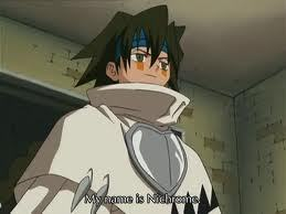 *hisses* Nichrome from shaman king! BECAUSE OF HIM, REN WAS ALMOST KILLED!!!!!!!!! DIE tu LITTLE--------!