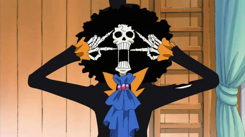 Brook from One Piece :) All bones and a perv!