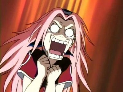 Saukra Haruno. She's so useless. I just HATE her!
