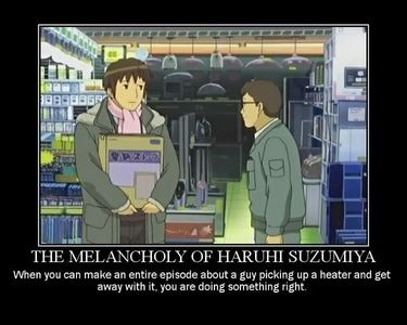 Does the melancholy of Haruhi Suzumiya count? She is god, after all.