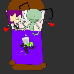llllllllllllooook.zim and gaz are in ベッド