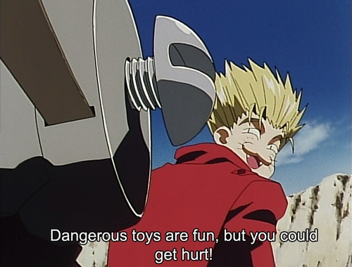 <i>This screenshot is brought to tu por Trigun Episode 1. Be sure to promote <b>LOVE AND PEACE</b> where ever tu are.</i>