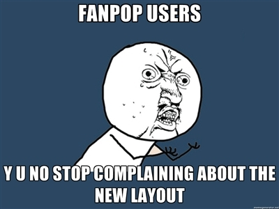 you guys are complaining just because of a change?