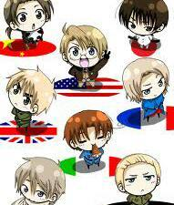 Hetalia par far. With baka and test in second.
