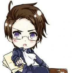 since England and Romano have been taken, I would go with Mr. Austria from Hetalia