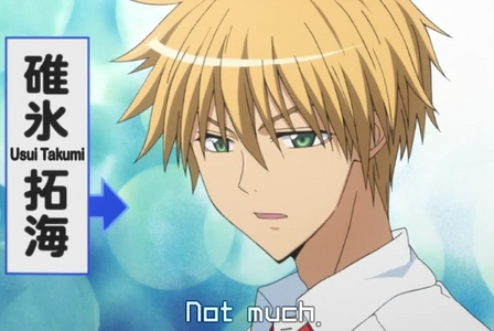 I like both but I slightly prefer Usui-kun.