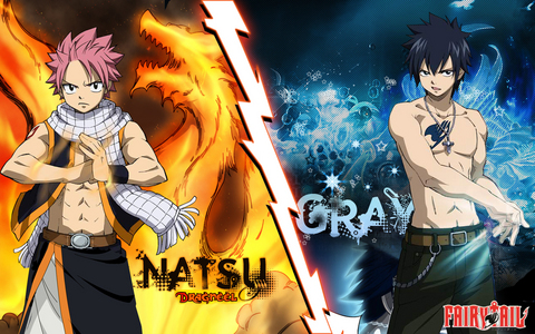 Natsu and Gray. I like Gray better.