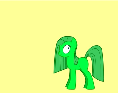 her name is crazy greeny pie just like pinkie pie when is is crazy she is nice when she is normal but she can get really weird