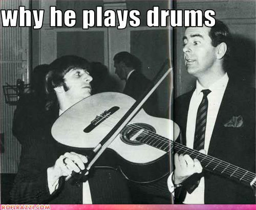 huh what i was teaching ringo how to play the gutair