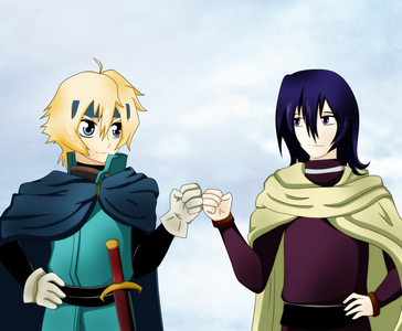 Lief of Del and Dain of Tora , Deltora Quest Lief Left and Dains Right