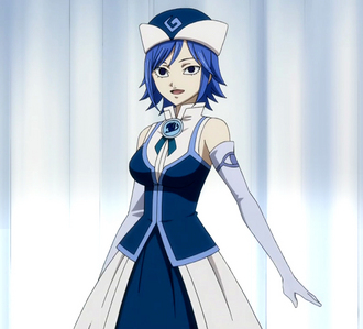 Juvia Loxar from Fairy Tail , nobody touches my Gray!