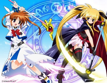 1- Magical Girl Lyrical Nanoha/Mahou Shoujo Lyrical Nanoha : I Amore it!they have good story and character,have a great music,maybe for magical girls it più darker,i really like the battle,and....It's one of my preferito anime!!!there is the image... 2-Clannad :the story is make me cry,and they have cute character 3-Rozen maiden :I like the character they have own character(like magical girl lyrical nanoha),the story is good 4-K-ON! ;love the character! 5- Pretty cure series :they have a lot of season now 9,but i think it's good storyline... Maybe i watch shoujo più then shonen ,and te already watch naruto,so that's my preferito :D ~~~