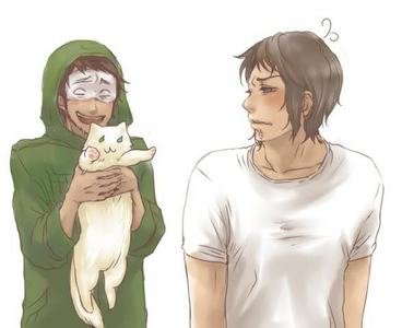 Greece from Hetalia? Haha and for once, he isn't the guy holding the cat!