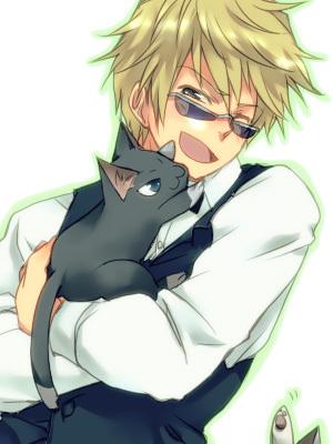 Shizuo Hewajima, and because my nickname is Kat, I'm the kitty he's holding!