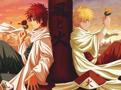 Gaara and Naruto both of them have been alone a very long time holding their hands is enough for me to tell them that they are not alone u.u