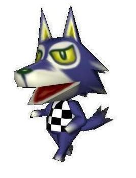 Lobo from the Animal Crossings Video Game Series.