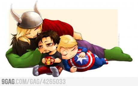 The Avengers!!! Whoo-hoo!! Gonna help save the world! XD