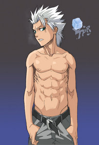 TOSHIRO HITSUGAYA FROM BLEACH HE HAS A SEXY BODY!!!