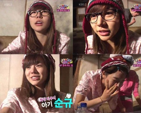 sunny bares it all for us to see...well make up wise