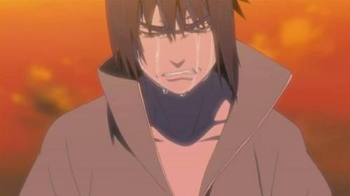Sasuke is so sad because itachi died