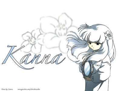 """Kanna from Inuyasha... I think """"IT"""" (I'm not sure if it's HIM 或者 HER) is sad... almost depressing... :