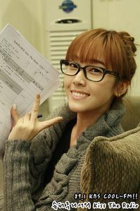 My lil Sica. Glasses. No makeup : )