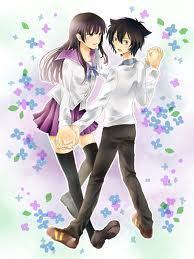 There's Sankarea It's also an Anime A Liebe dreieck between Wanko, Rea, and Furuya-kun.