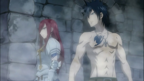 Erza Scarlet and Gray Fullbuster from Fairy Tail because they are both awesome and Gray is hot!
