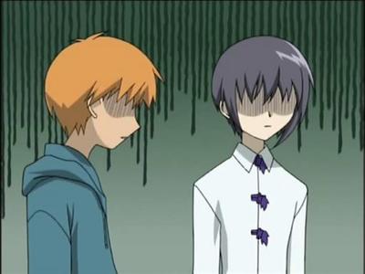 Yuki and Kyo Yuki was tormented da Akito and Kyo was treated like a monster