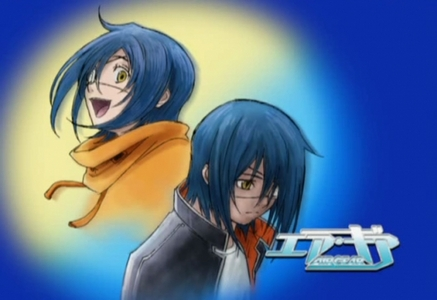 Akit/Agito from air gear when the eyepatch is on the left eye he is super nice, but when the eye patch hits the right eye he becomes evil