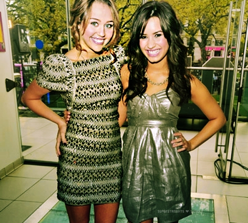 Miley Cyrus and Demi Lovato :)