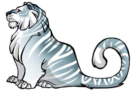 I am a light blue tiger with 8 legs Awesome