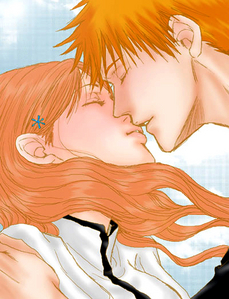 orihime and ichigo :3 <333 , yay first post!