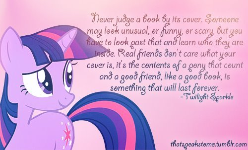 I will post a walang tiyak na layunin twilight sparkle quote.
