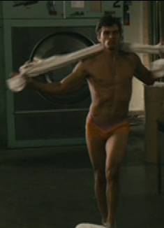 He may not be naked but close to it. Matthew Lawrence doing the sexy dance.