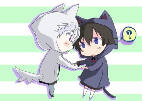 Akise and Yukki from Mirai nikki.
