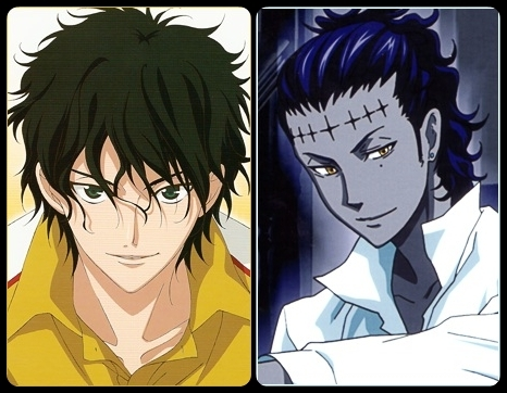 Akaya Kirihara from Prince of Теннис and Tyki Mikk from D.Gray-man ;p