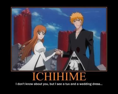 I,M not selfish so i only want orihime with ichigo so it can be fair to the other people like uyru and ulquiorra to find somebody else <3333 so yeah ichime