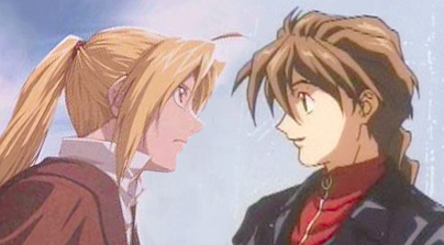Edward Elric and Duo Maxwell.