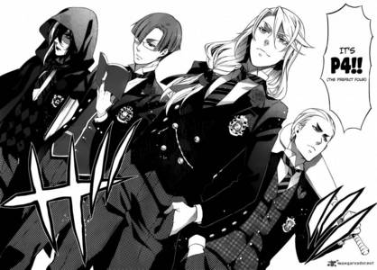 in the Black Butler 日本漫画 the Weston College uniforms