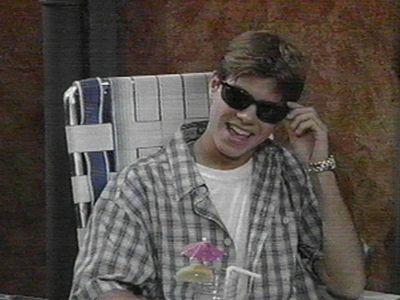 Matt wearing shades from Boy meets world.