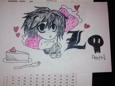 This is l with cake. It's my 粉丝 art. Hope 你 likes it!