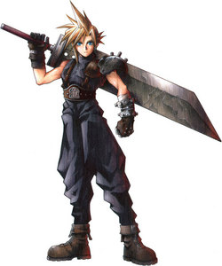 Cloud Strife from final fantasy 7! He's the hottest final fantasy character! <3