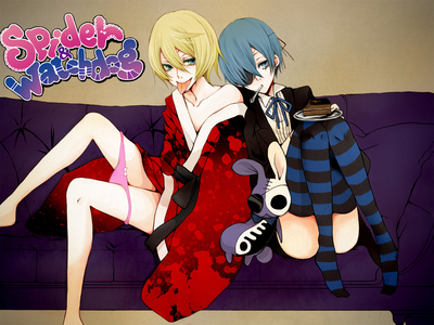 A cross-over with Kuroshitsuji and Panty & stocking, pantyhose with Garterbelt~ Explains alot, ne? xD